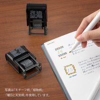 MIDORI Paintable Stamp Re-Inkable Self-Inking Stamp | Message Green Package - The Stationery Life!