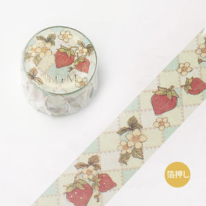 BGM Strawberry Fairy Tale Gold Foil Washi Tape - The Stationery Life!
