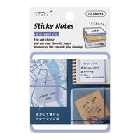 BLUE Midori Selectable Pickable Sticky Notes Transparent Sticky Note Kraft Sticky Note | 70mm - The Stationery Life!