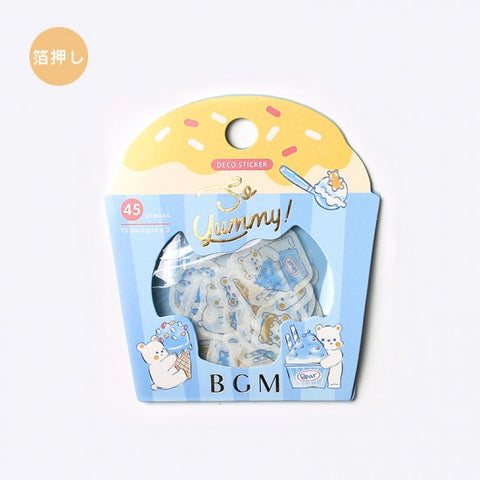 BGM Premium Die-Cut Flake Polar Bears Frozen Treats Ice Cream Mochi Stickers | FG081 - The Stationery Life!