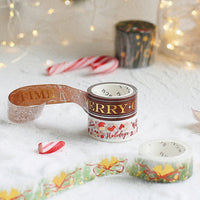 BGM Holiday Merry Christmas Text Gold Foil Washi Tape - The Stationery Life!