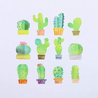 CACTUS SUCCULENT | Bande Washi Tape Masking Tape Sticker Roll BDA291 180 Stickers - The Stationery Life!