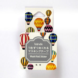 HOT AIR BALLOON | Bande Washi Tape Masking Tape Sticker Roll BDA307 180 Stickers - The Stationery Life!