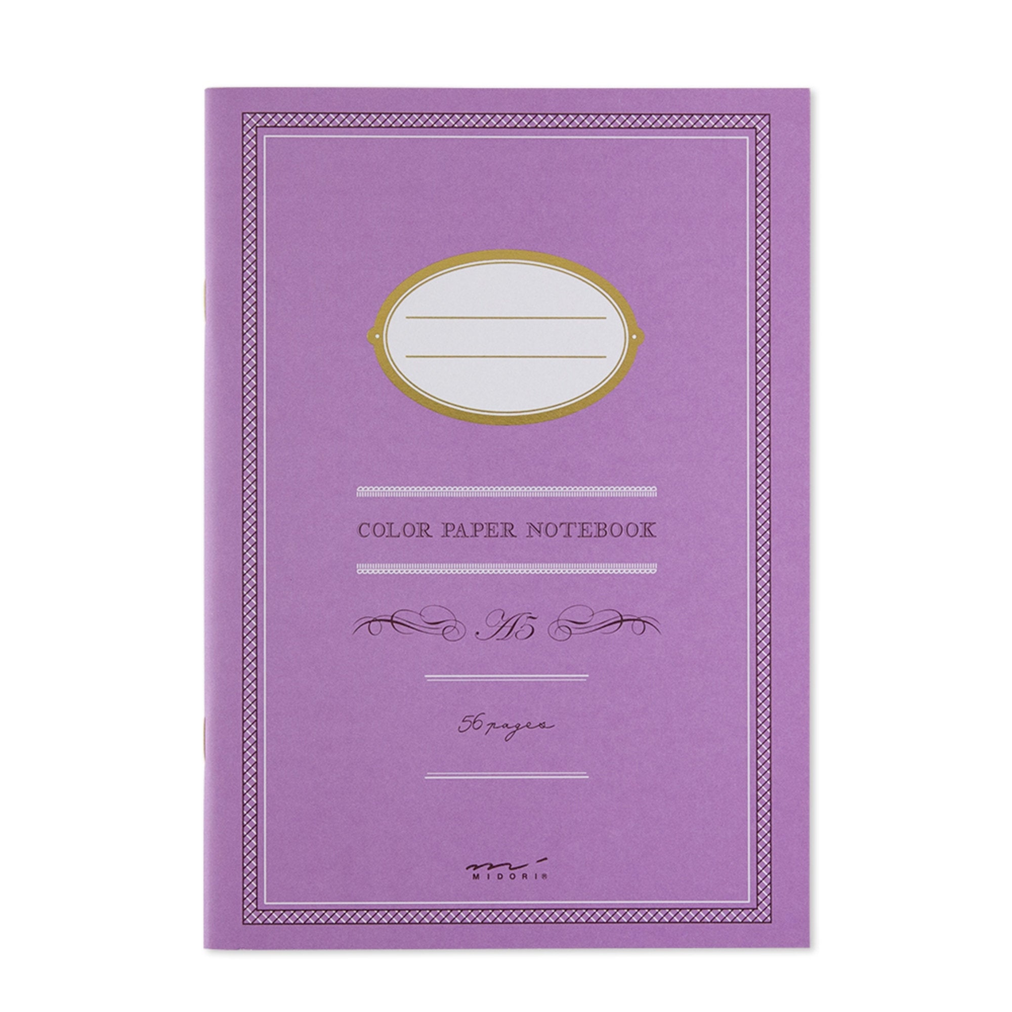 Midori A5 PURPLE COLOR Ruled Lined Notebook | Color Paper 56 Pages - The Stationery Life!