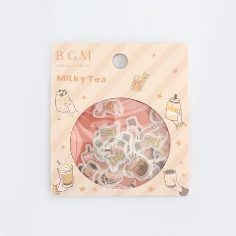 BGM Premium Die-Cut Flake Bubble Tea Milk Tea Boba | FF011 - The Stationery Life!