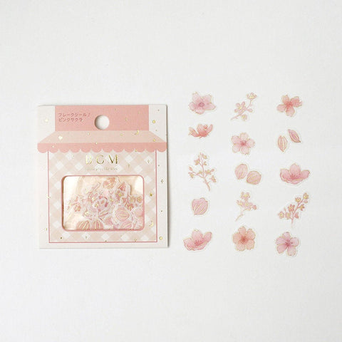 BGM Premium Die-Cut Flake Stickers Sakura Cherry Blossom Stickers | FG054 - The Stationery Life!