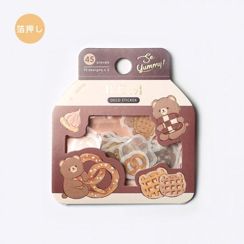 BGM Premium Die-Cut Flake Cookie Bear Sweet Treats Cookies Pretzels Stickers | FG075 - The Stationery Life!