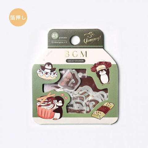 BGM Premium Die-Cut Flake Penguin Chocolate CUpcake Sweet Treats Stickers | FG079 - The Stationery Life!