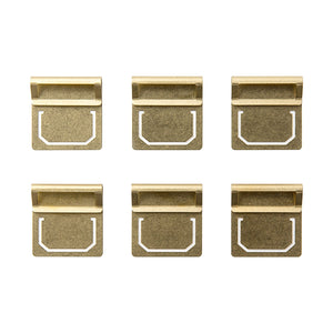 TRAVELER'S COMPANY BRASS Index Clips | Set of 6 - The Stationery Life!
