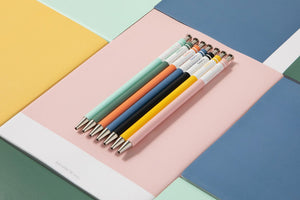 MARK'S STYLE Colors PINK Vibrant Wooden Shaft Retractable Gel Ink Pen | 0.5mm - The Stationery Life!