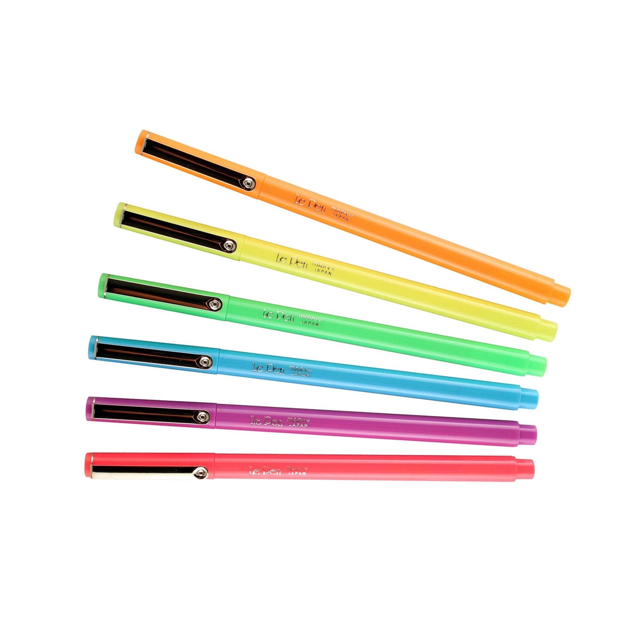 Marvy Le Pen NEON Set Fluorescent PINK 0.3mm 4300-4F | Single Pen or Complete Set - The Stationery Life!