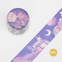 BGM Dreamtime Azure Castle Train Silver Foil Washi Tape - The Stationery Life!