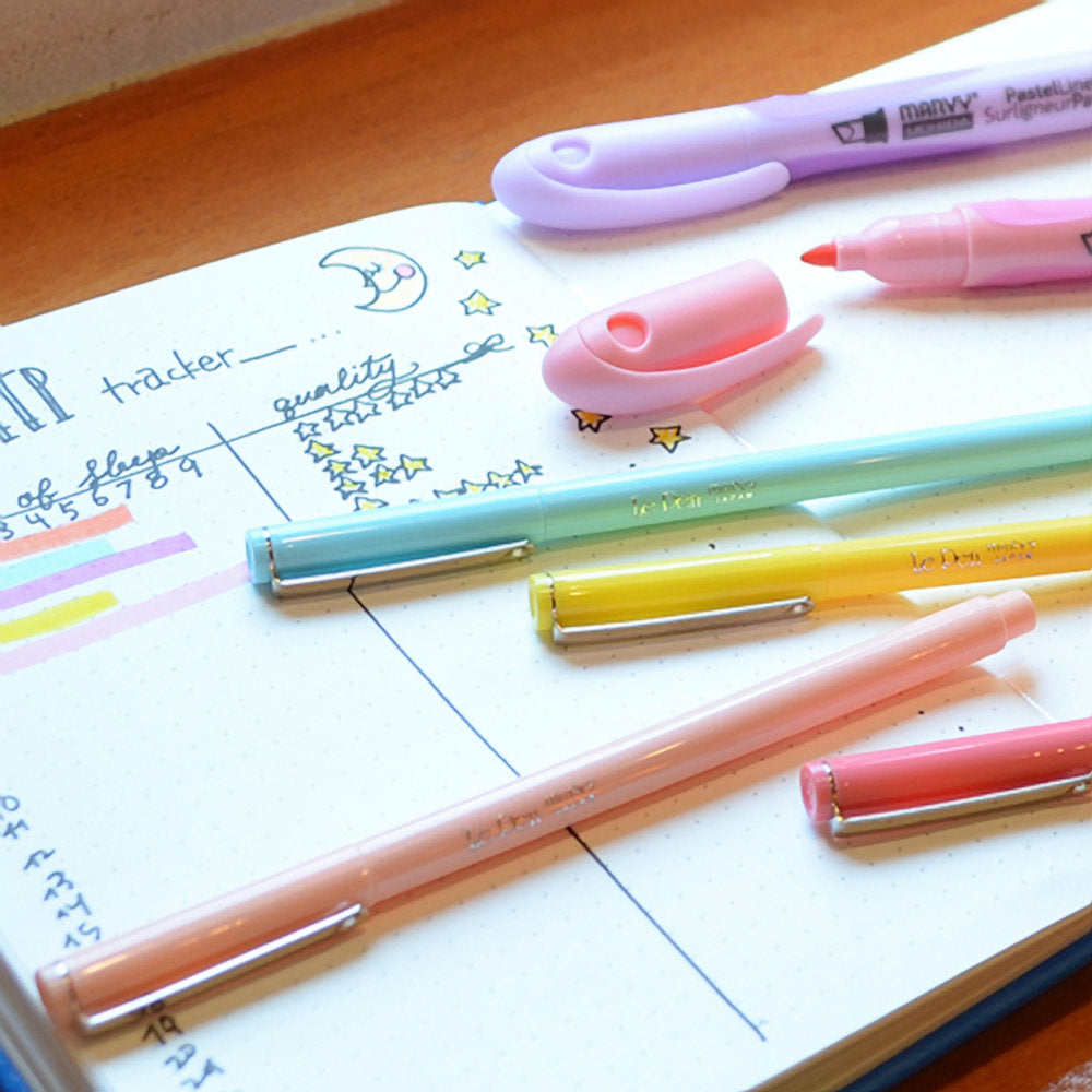 Marvy Le Pen PASTELS Set 0.3mm 4300-10P | Single Pen or Complete Set - The Stationery Life!