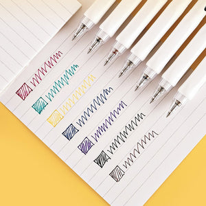 Kokuyo Vividry NEW COLOR Retractable Gel Pen 0.5mm | 6 Colors & Colored Ink | Single Pen or SET - The Stationery Life!