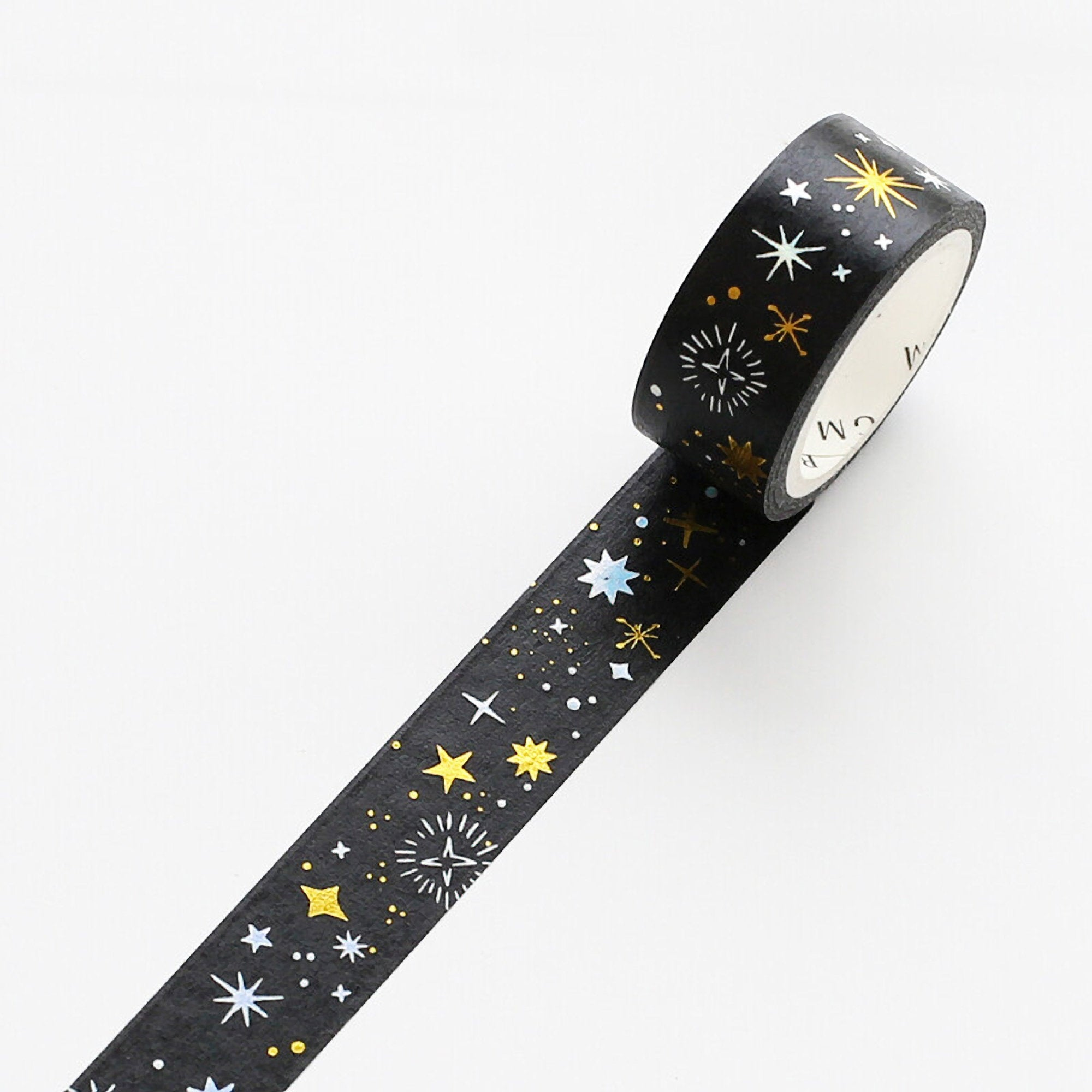 BGM Stars TWO COLOR Silver Foil & Gold Foil Washi Tape - The Stationery Life!