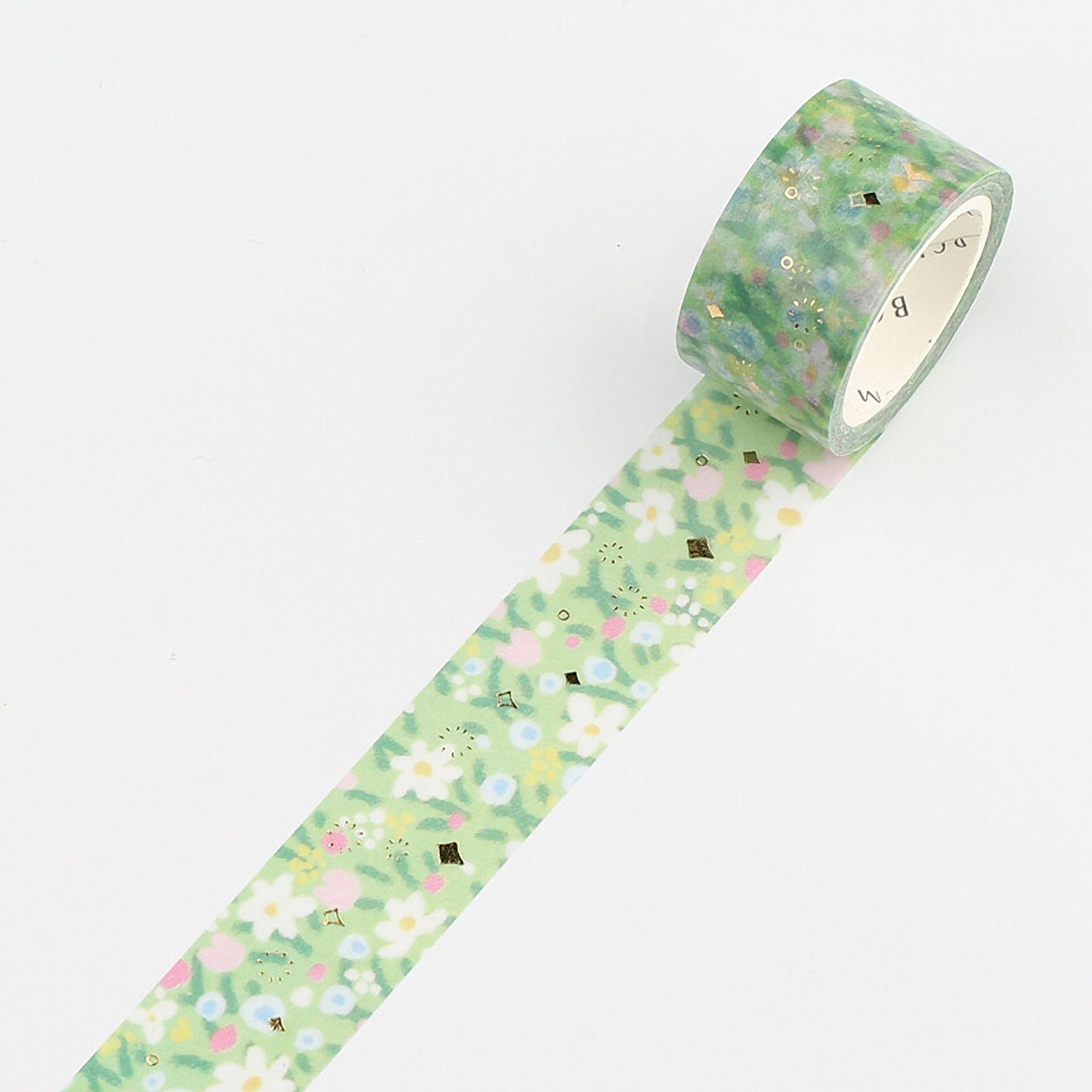 BGM Spring Yard Spring Lawn Summer Lawn GOLD FOIL Washi Tape - The Stationery Life!
