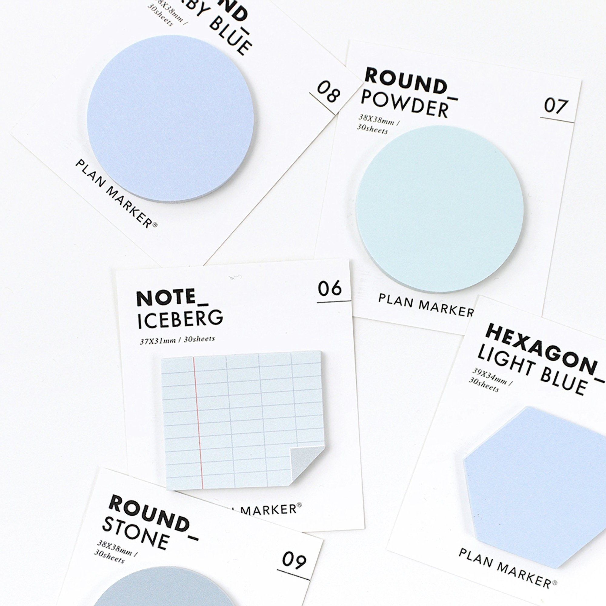 PAPERIAN Single Plan Marker RECTANGLE Note Sticky Note Small Sticky Note South Korea | 31 x 37mm - The Stationery Life!