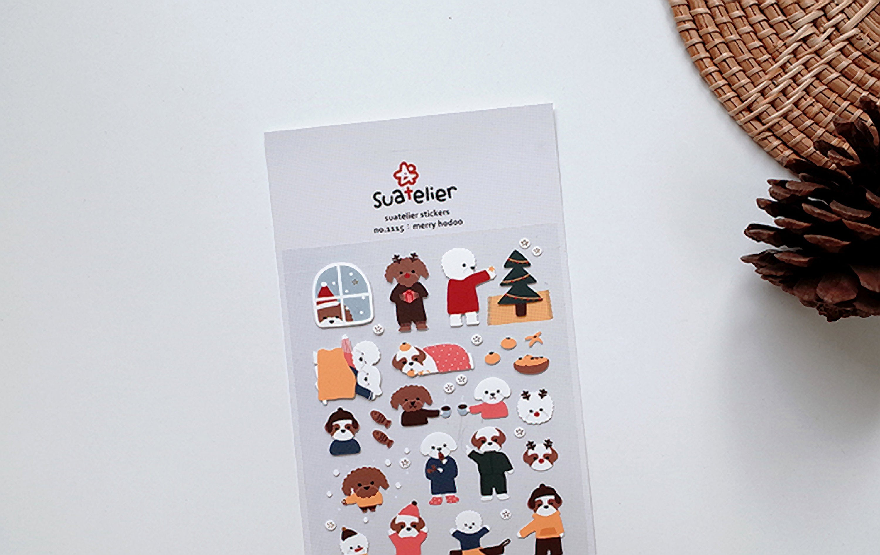 Suatelier Sonia PVC Transparent Stickers 1115 | Merry Hodoo Christmas Holiday Stickers - The Stationery Life!