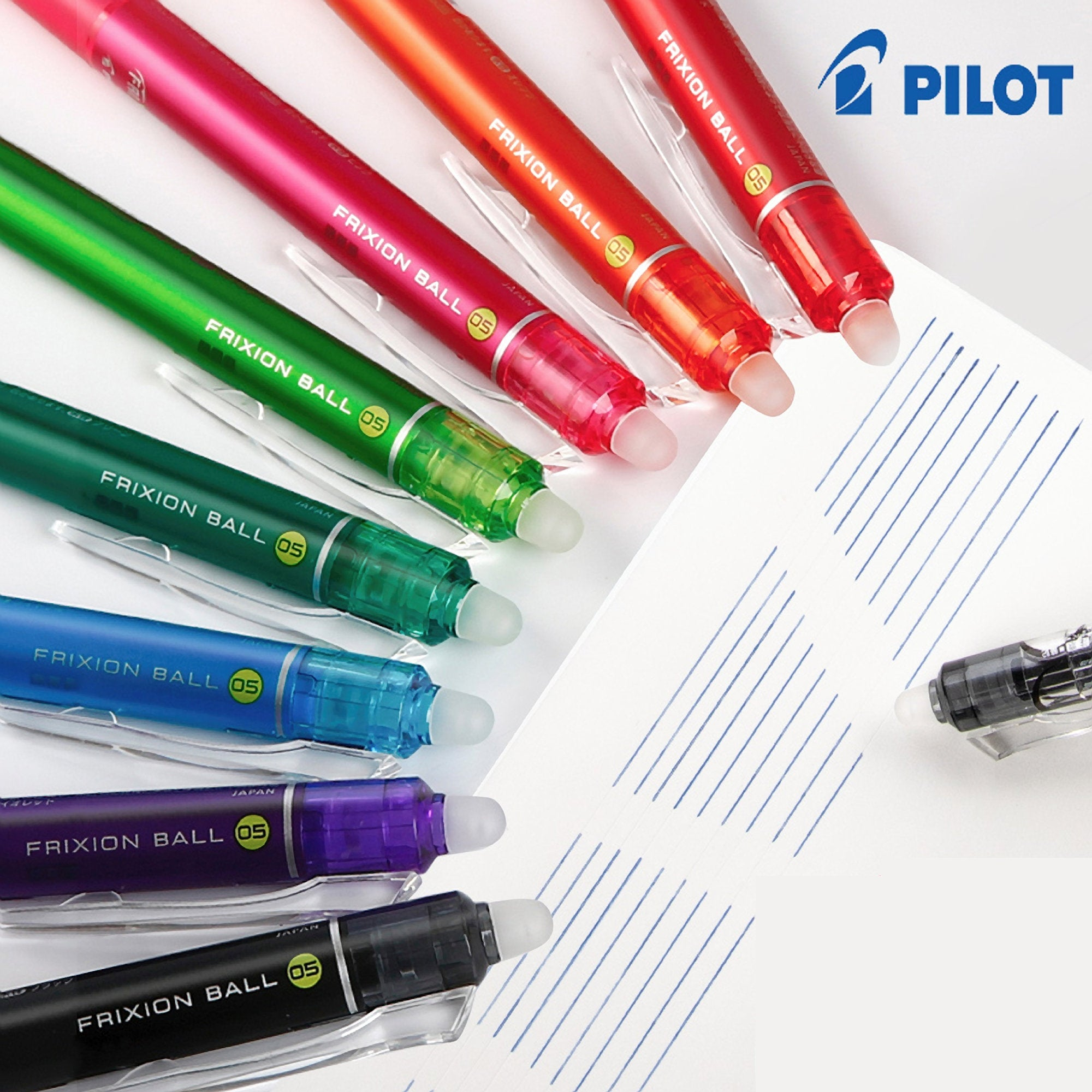 Pilot FriXion ORANGE Ball Knock 05 Gel Pen 0.5 mm Erasable Pen | LFBK-230EF - The Stationery Life!