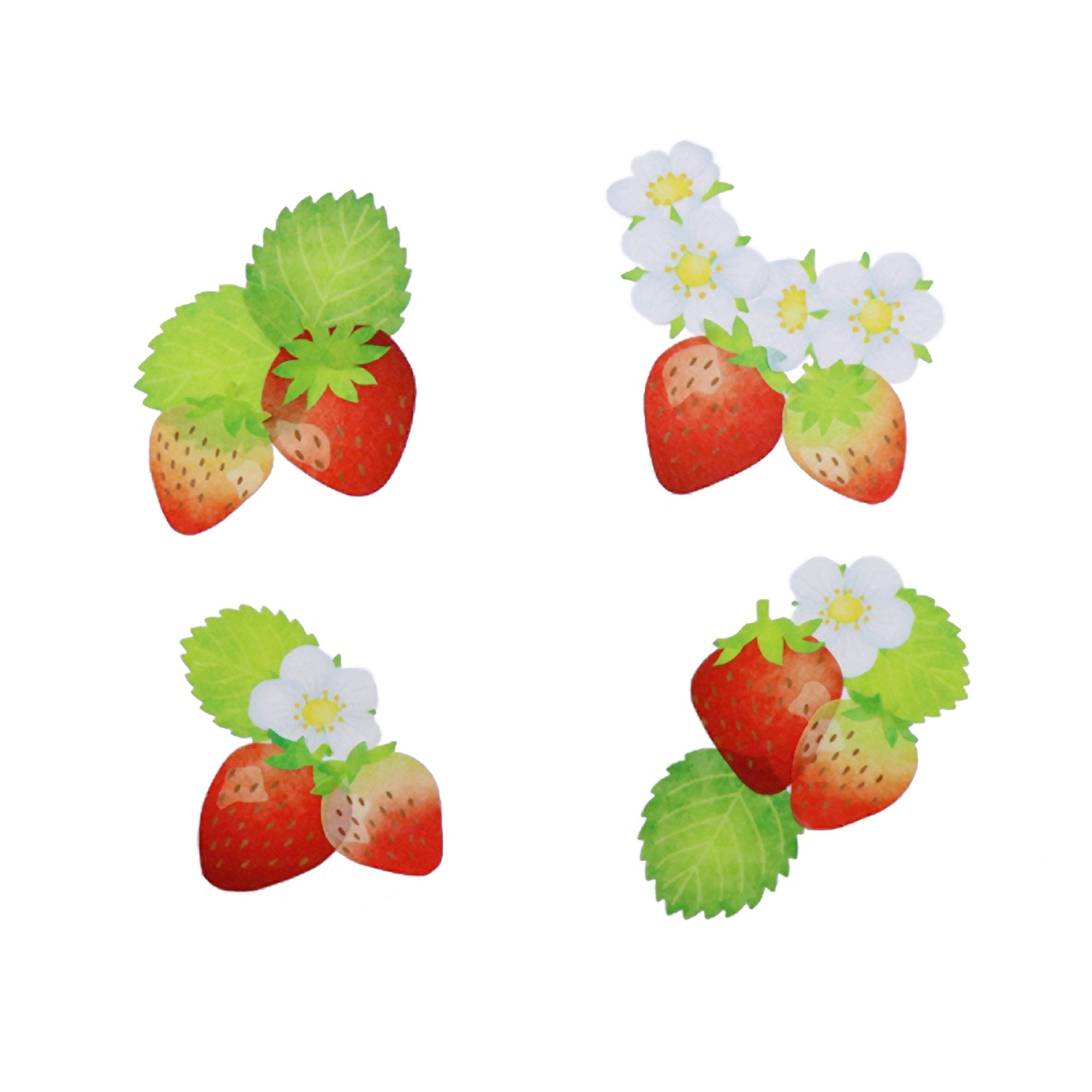 STRAWBERRY Strawberries | Bande Washi Tape Masking Tape Sticker Roll BDA283 200 Stickers - The Stationery Life!