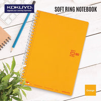 Kokuyo BLACK Soft Ring Notebook 5mm Dot Ruled SV457S5 | A6 80 Sheets - The Stationery Life!