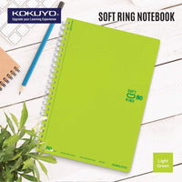 Kokuyo BLUE GREEN Soft Ring Notebook 5mm Dot Ruled SV457S5 | A6 80 Sheets - The Stationery Life!