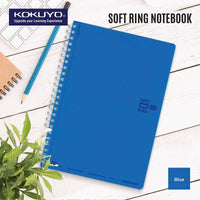 Kokuyo BLUE Soft Ring Notebook 5mm Dot Ruled SV457S5 | A6 80 Sheets - The Stationery Life!
