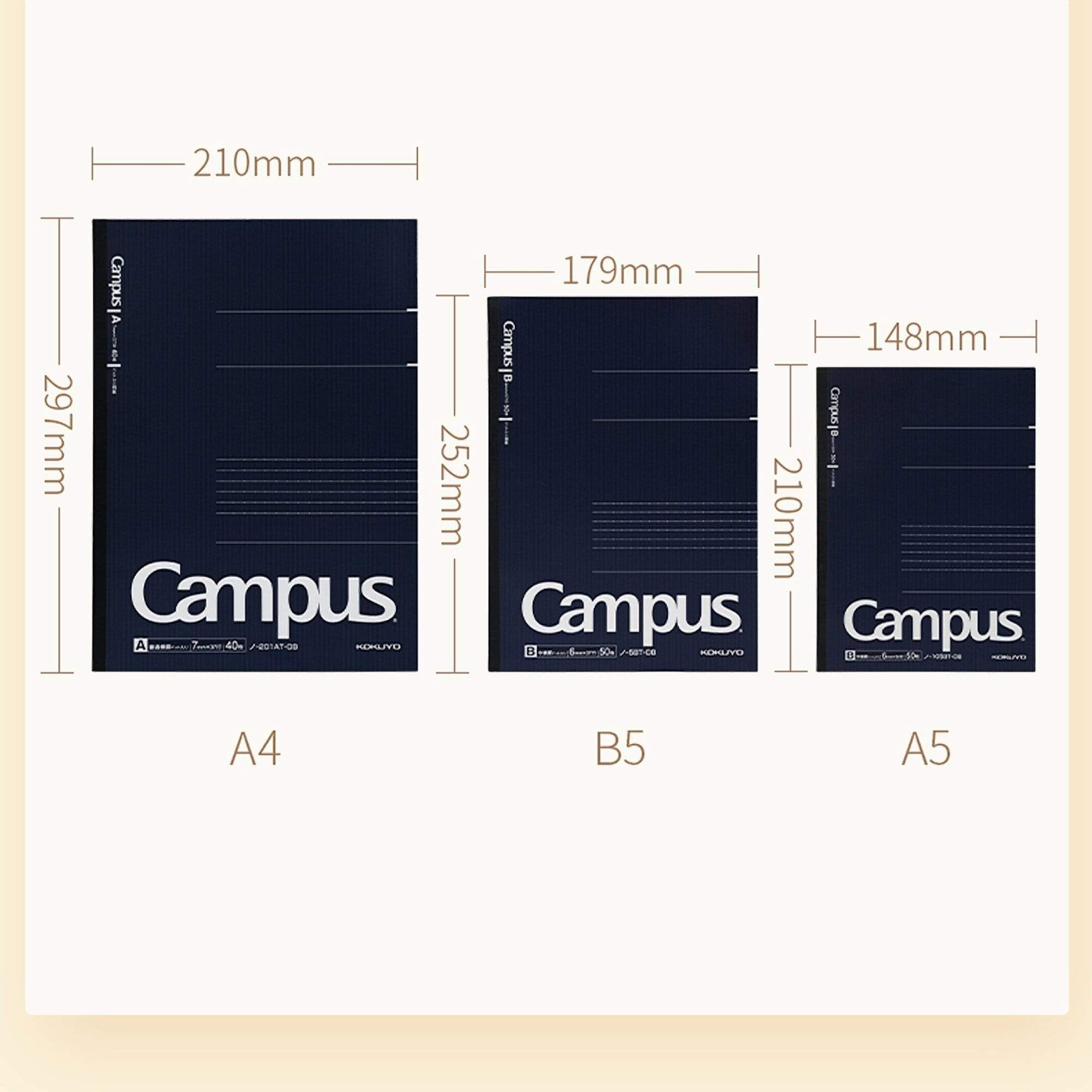 Kokuyo Campus Notebook Black 5mm Grid | A5 40 Sheet