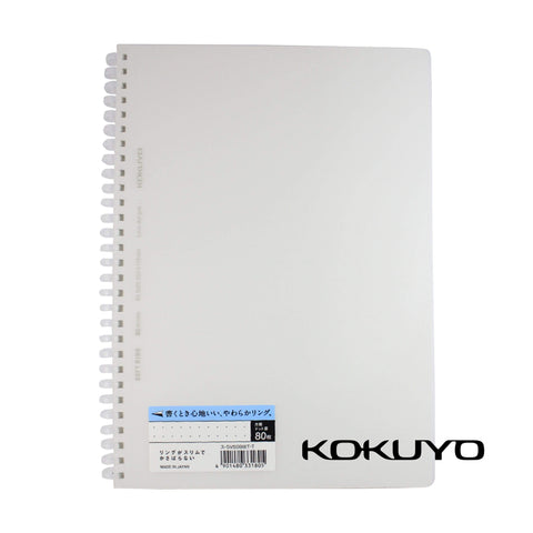 Kokuyo CLEAR Soft Ring Notebook 5mm Dot Grid SV508WT | Semi B5 80 Sheets - The Stationery Life!