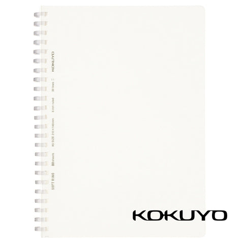 Kokuyo Soft Ring Notebook 6mm Ruled SV538BT | A5 80 Sheets - The Stationery Life!