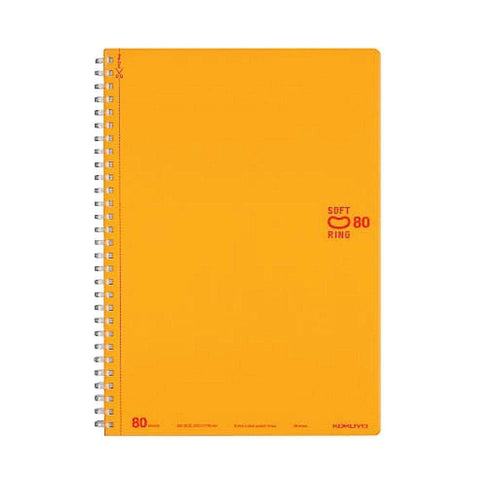 Kokuyo Soft Ring ORANGE Notebook Dotted 6 mm Rule | Semi B5 80 Sheets - The Stationery Life!