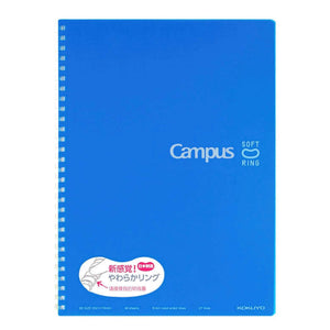 Kokuyo Soft Ring BLUE Notebook Dotted Line 8 mm Rule | Semi B5 40 Sheets - The Stationery Life!