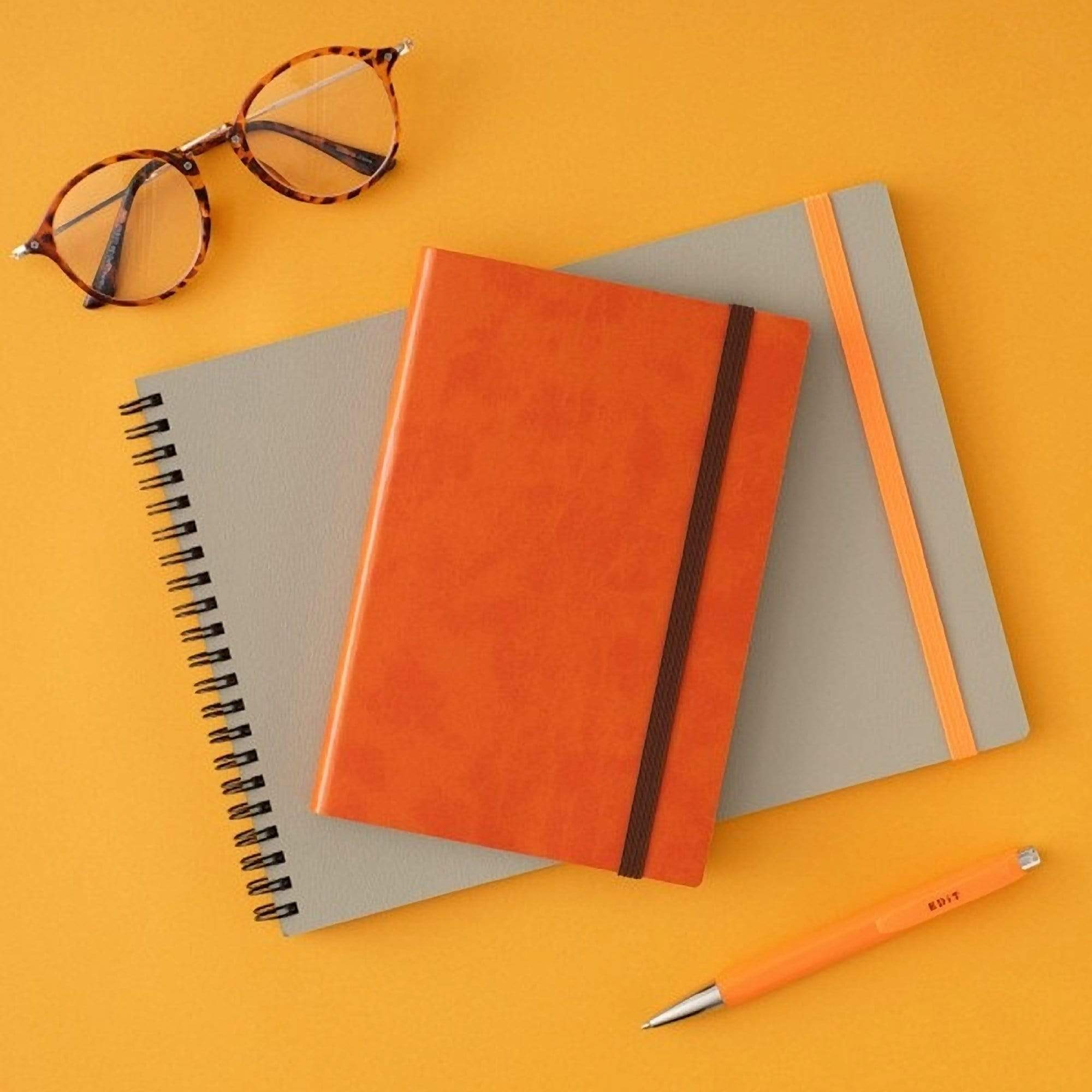 MARK'S EDiT A5 Hardcover Notebook 5mm Grid | Apricot Orange - The Stationery Life!