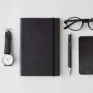 MARK'S EDiT A5 Hardcover Notebook 5mm Grid | Midnight Black - The Stationery Life!