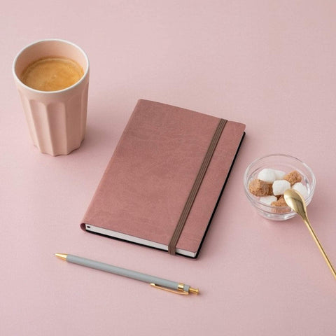 MARK'S EDiT A5 Hardcover Notebook 5mm Grid | Rose - The Stationery Life!