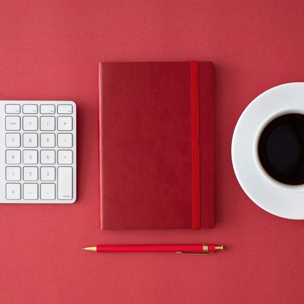 MARK'S EDiT A6 Hardcover Notebook 5mm Grid | Oriental Red - The Stationery Life!