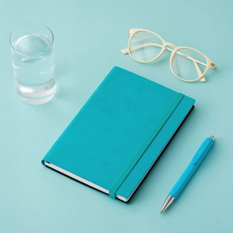MARK'S EDiT A6 Hardcover Notebook 5mm Grid | Turquoise Blue - The Stationery Life!