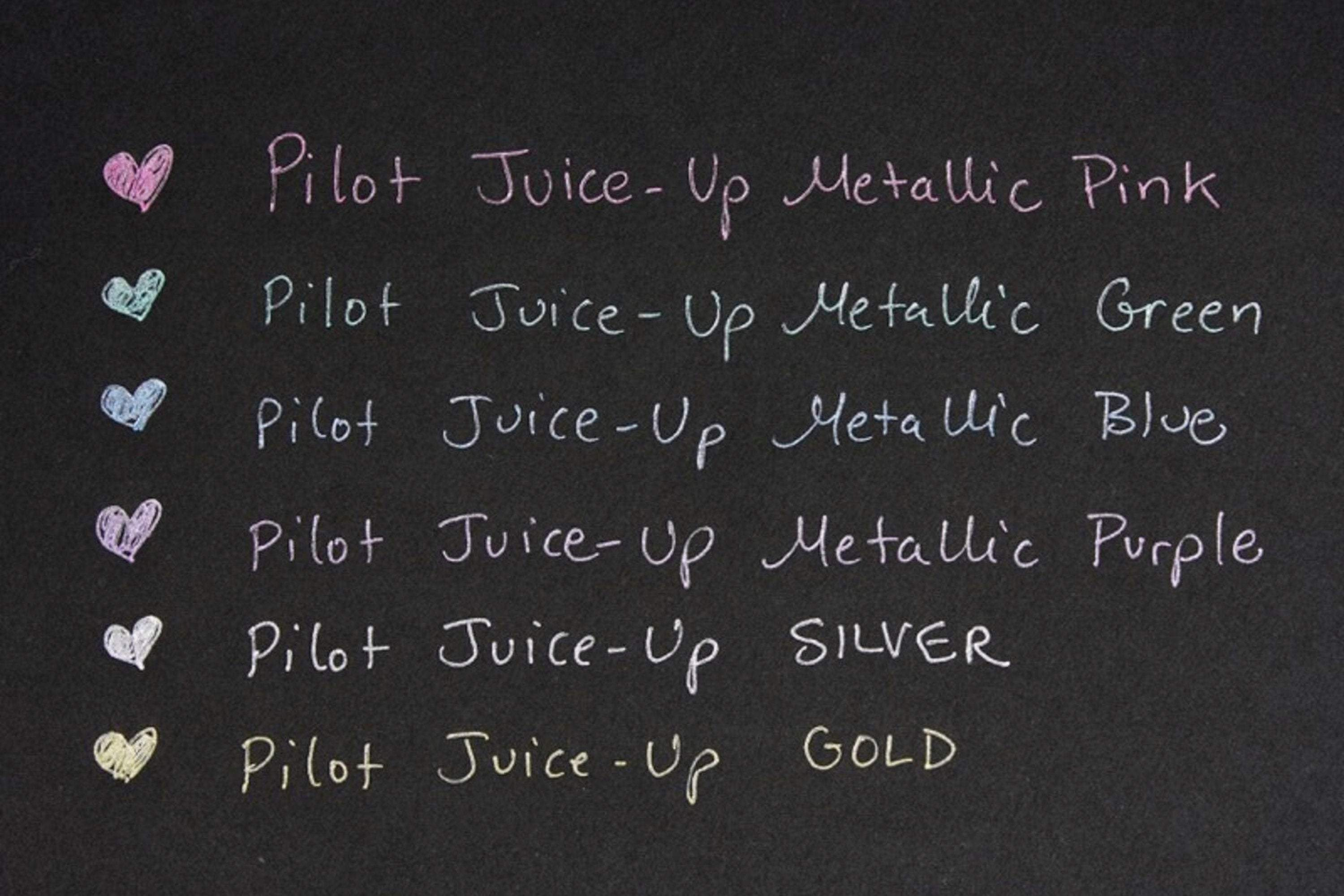 METALLIC Pilot Juice Up Single Pen or Full Set Pilot Gel Pen | 0.4mm - The Stationery Life!