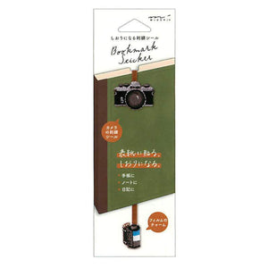 MIDORI CAMERA and 35mm Film Embroidered Bookmark Sticker - Limited Edition - The Stationery Life!