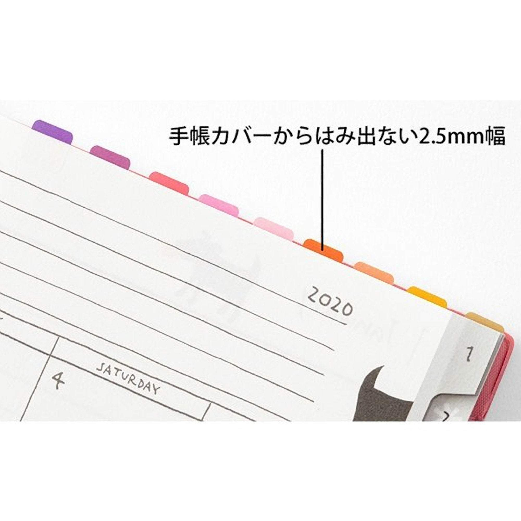 MIDORI Chiratto Index Label Blank VIVID Rainbow Colors Planner Index Tabs - The Stationery Life!