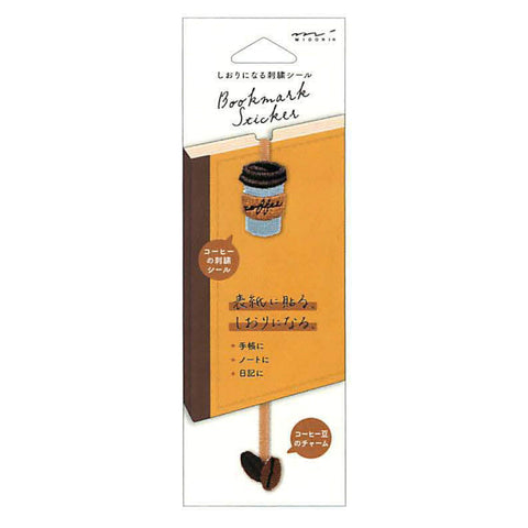 MIDORI COFFEE Embroidered Bookmark Sticker - Limited Edition - The Stationery Life!