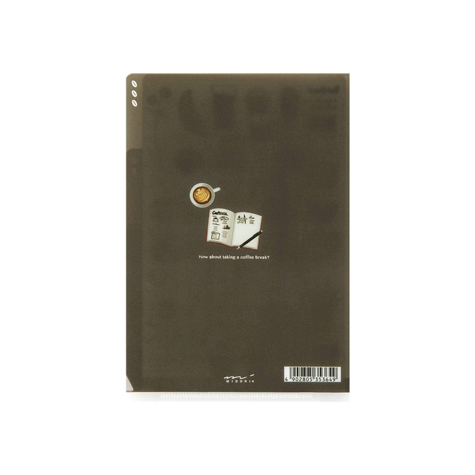 Midori MD A5 3 Pocket Clear Folder | Coffee - The Stationery Life!
