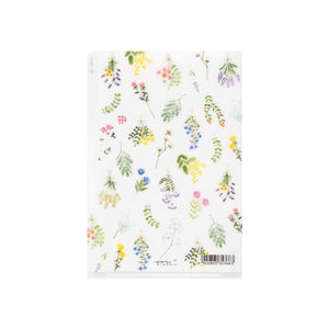 Midori MD A5 3 Pocket Clear Folder | Dried Flowers - The Stationery Life!
