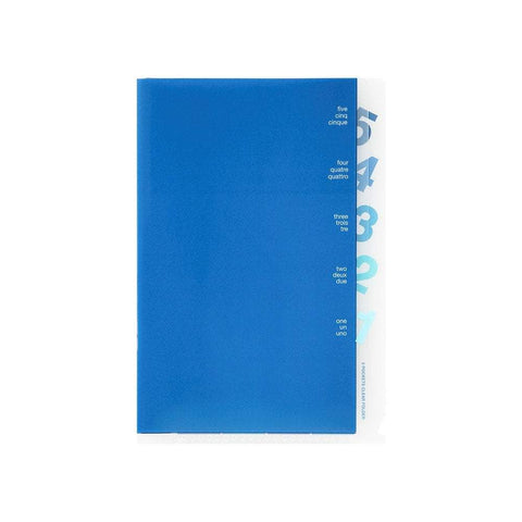 Midori MD A5 5 Pocket Clear Folder | Blue - The Stationery Life!