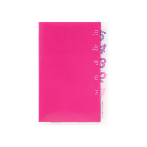 Midori MD A5 5 Pocket Clear Folder | Pink - The Stationery Life!