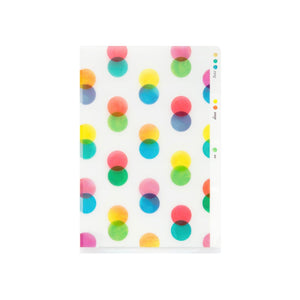 Midori MD A6 3 Pocket Clear Folder | Dots - The Stationery Life!