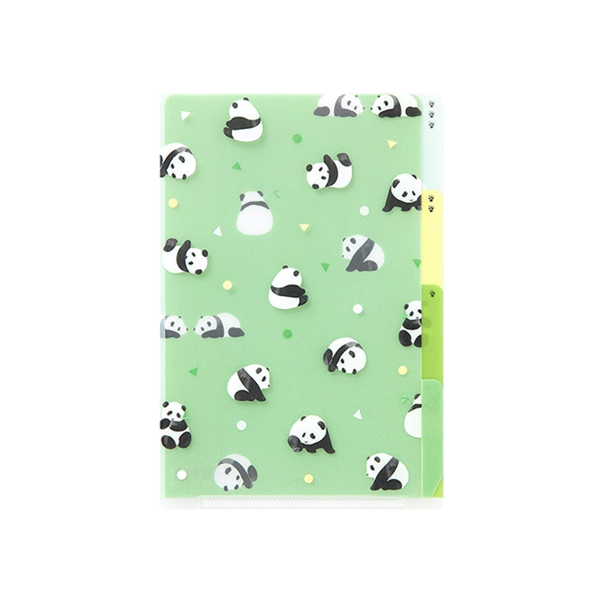 Midori MD A6 3 Pocket Clear Folder | Panda Kawaii - The Stationery Life!