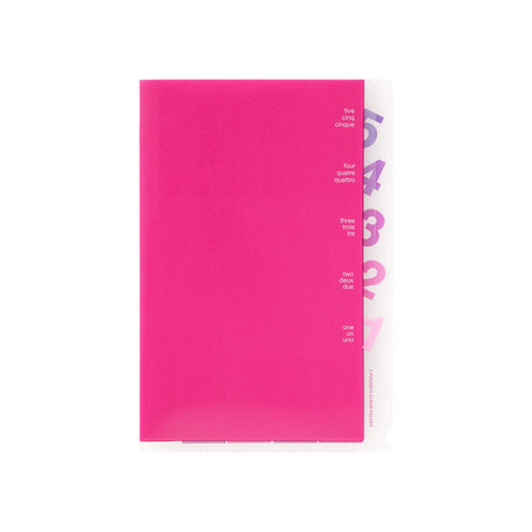 Midori MD A6 5 Pocket Clear Folder | Pink - The Stationery Life!