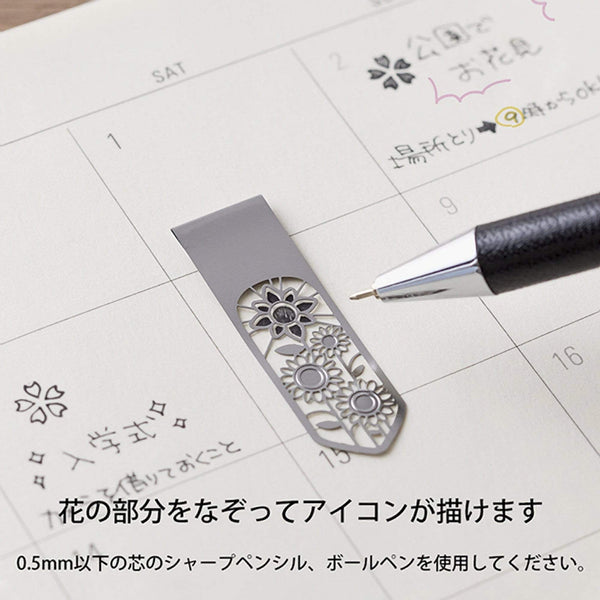 MIDORI Metal Flower Bookmark Clips - The Stationery Life!