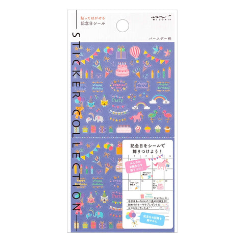 Midori Seal Collection Planner Stickers Removable Pastel | Birthday - The Stationery Life!